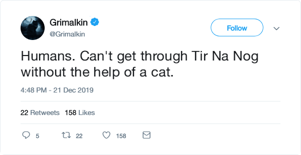 grimalkin without help of a cat